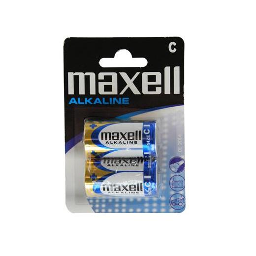 Pilhas Maxell Alcalina LR14 1.5V C (Pack 2)