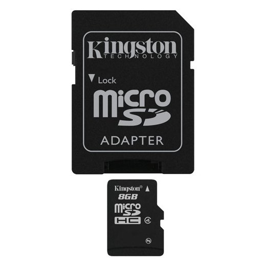 Cartão Kingston Micro SD C/ Adaptador SD 8GB