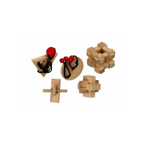 5 Puzzles Clássicos Madeira