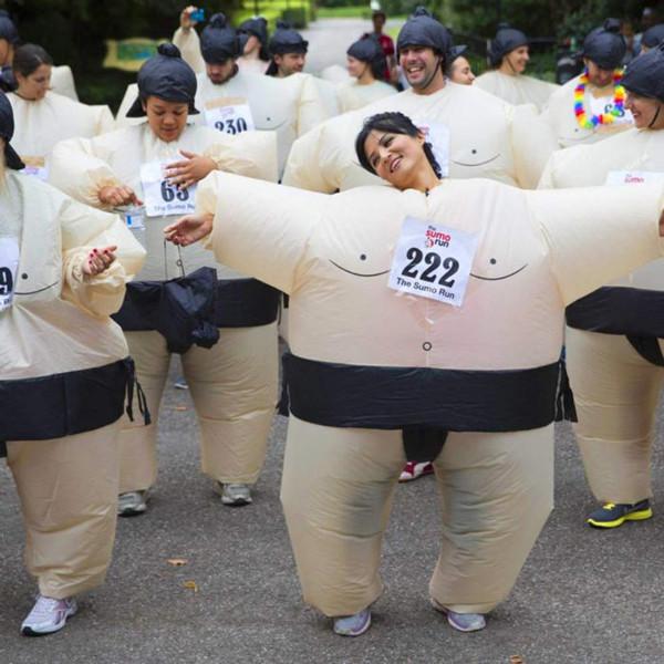 Fato Lutador de Sumo Insuflável