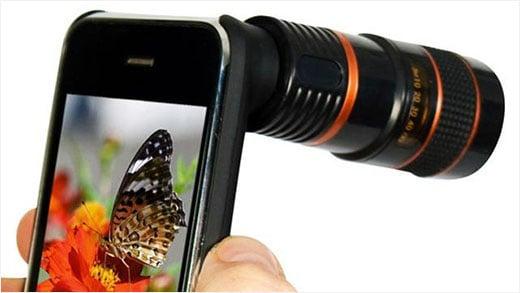 Tripé e Lente Óptica para iPhone 5