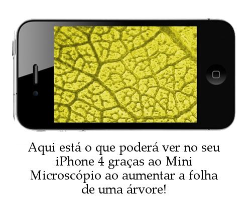 Mini Microscópio para iPhone 4