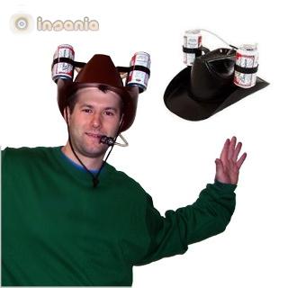 Chapéu de Cowboy com Suporte Bebida