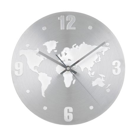 Relógio Parede Mapa Mundo Invotis