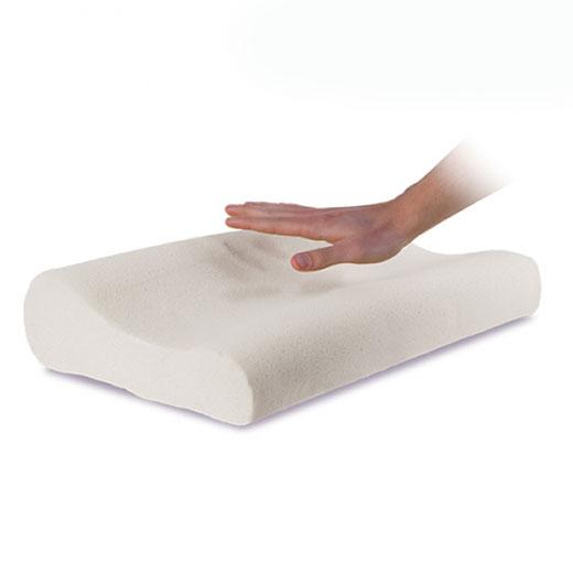 5497d6c7d01b A Almofada Viscoelástica Cervical reage à temperatura do seu corpo e  utiliza o calor para adaptar e moldar a espuma no seu interior conforme a  forma da sua ...