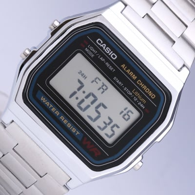 Relógio Casio Retro Prateado