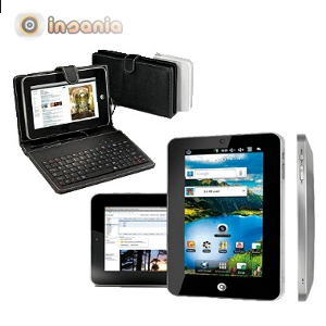 Tablet Ecrã 7 pol. HD com Teclado