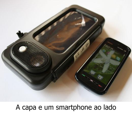 Funda y Altavoz para Smartphone a Prueba de Agua