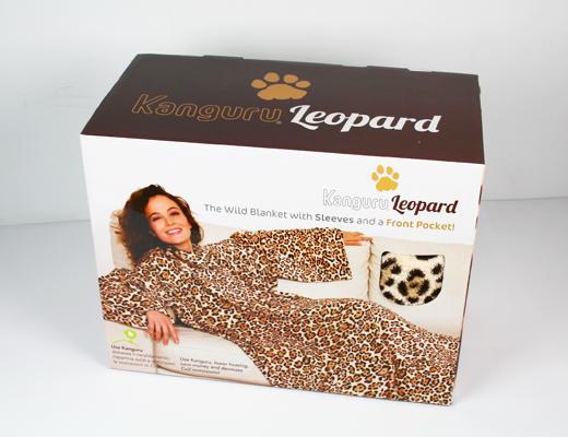Manta com Mangas Kanguru Leopardo