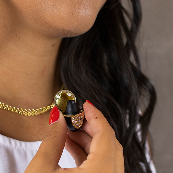 Collar Portaperfume Esme Dorado