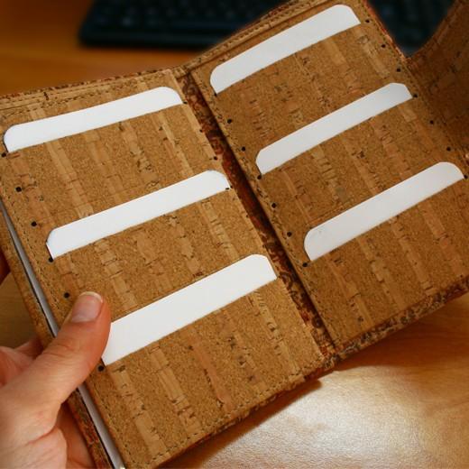 Carteira e Porta-documentos em Cortiça