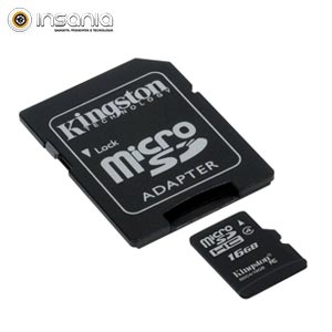 Cartão Kingston Micro SD C/ Adaptador SD 16GB