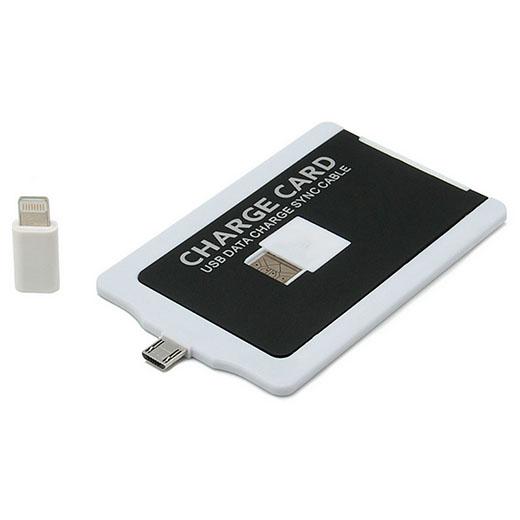 Cargador Tarjeta Smartphones (8 pines y Micro USB)
