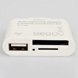 Adaptador Lightning Leitor Cartões e USB