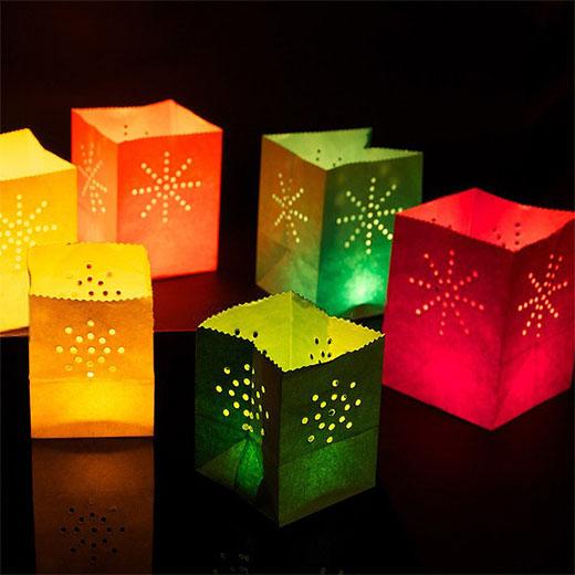 Bolsas de colores para velas (pack de 12)