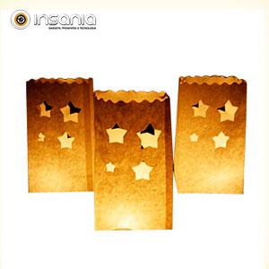 Sacos para Velas Estrelas (Pack 5)