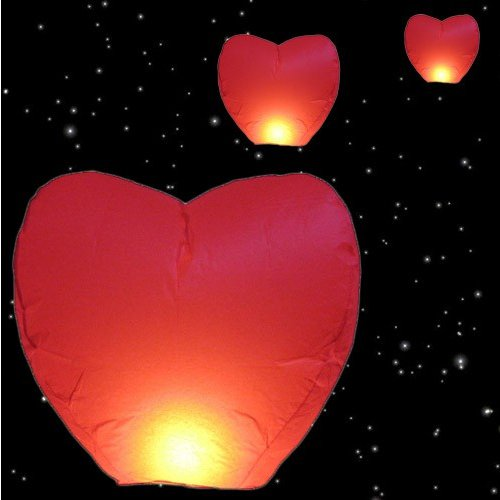 Farolillo en Forma de Corazón (Pack 4)