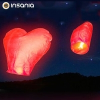 Balão Voador em Forma de Coração (Pack 4)