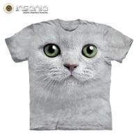 T-Shirt Face Gato Olhos Verdes