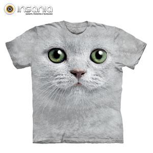 Camiseta Face Gato Ojos Verdes