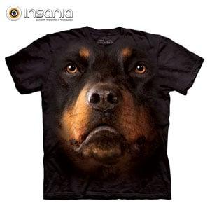 Camiseta Face Rottweiler