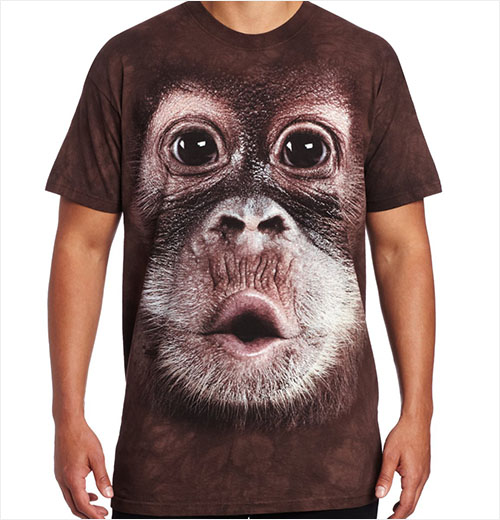 T-shirt Face Orangotango Bebé