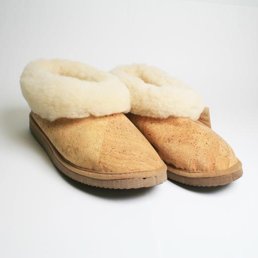 Pantufas em Cortiça e Lã Natural
