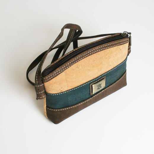 Bolsa Azul em Cortiça