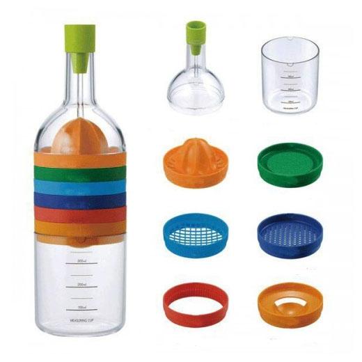 Botella con 8 Utensilios de Cocina