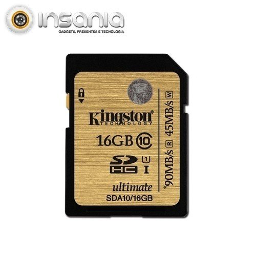 Cartão Kingston SD 16GB