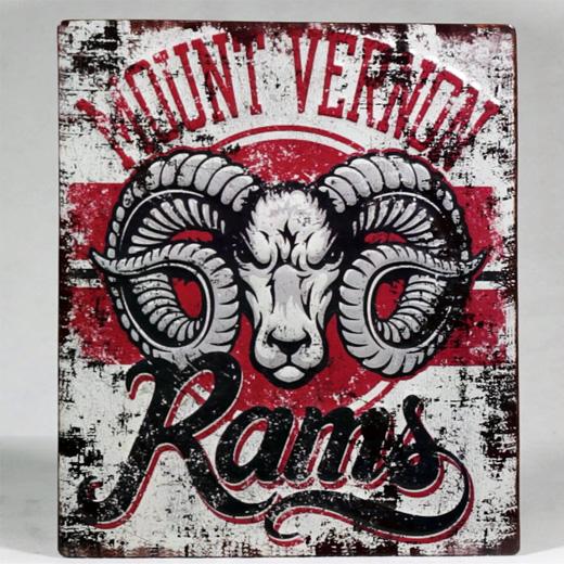 Placa Metálica Vintage Monte Vernon