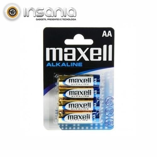 Pilas alcalinas Maxell AA (pack de 4)