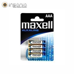 Pilhas Alcalinas Maxell AAA (Pack 4)