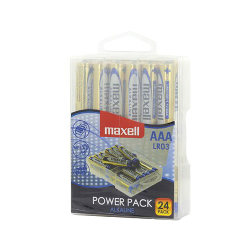 Pilhas Alcalinas Maxell AAA (Pack 24)