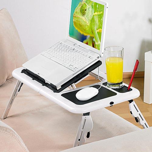 Mesa para Portátil com Ventilador Duplo