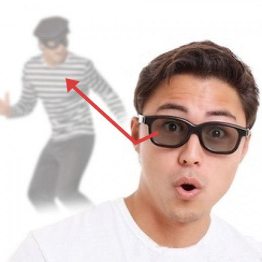 Gafas Espía con Espejo Retrovisor