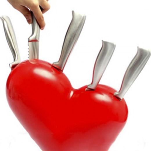 Conjunto de Facas Coração