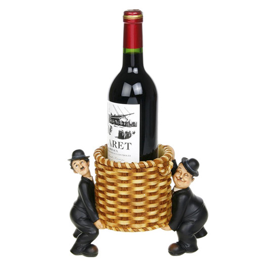 Porta-garrafa Laurel e Hardy