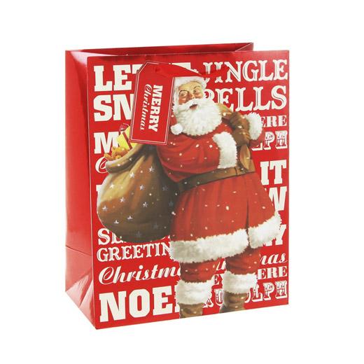 Saco de Presente Pai Natal Médio