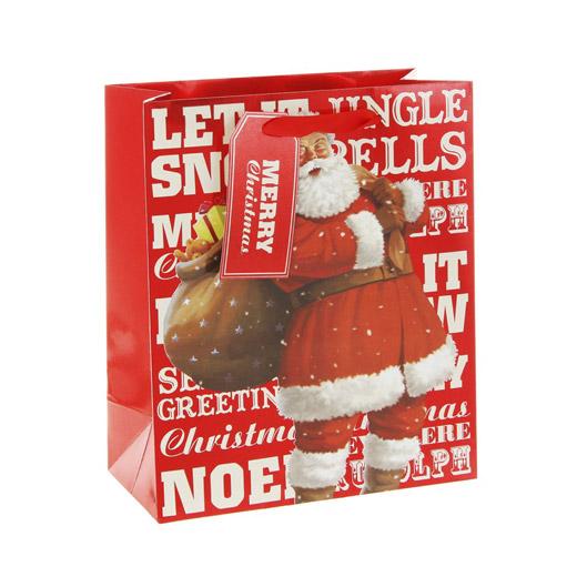 Saco de Presente Pai Natal Pequeno