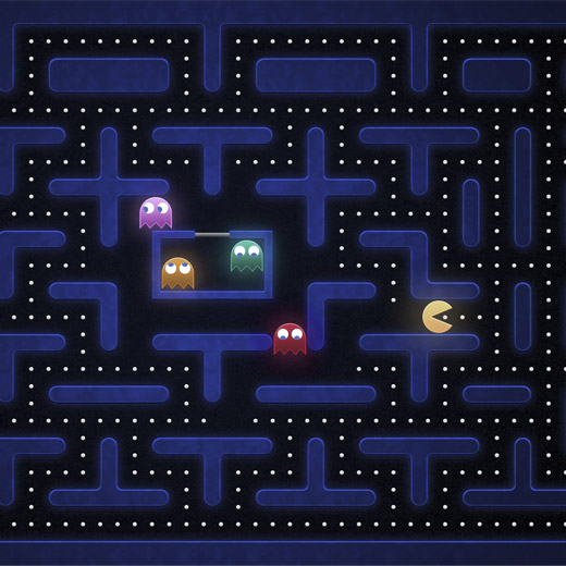 Abre-caricas e Porta-chaves Pac-Man