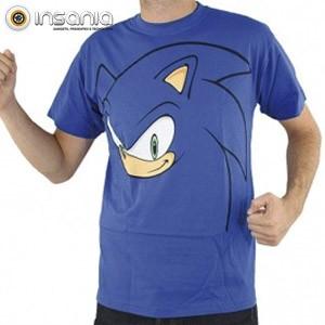 Camiseta Big Face Sonic azul