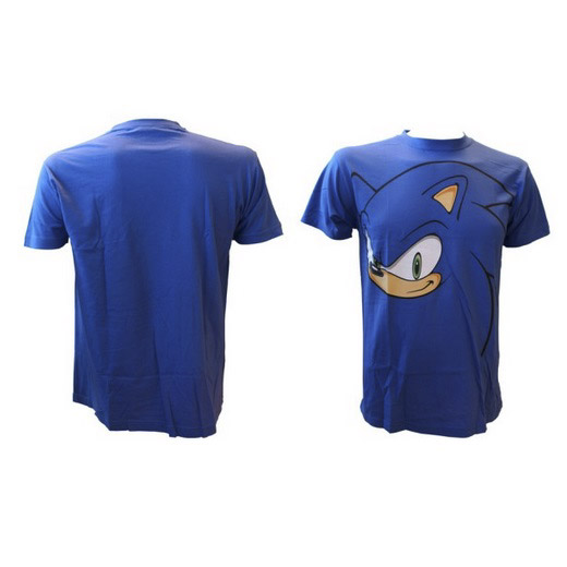 T-shirt Big Face Sonic Azul