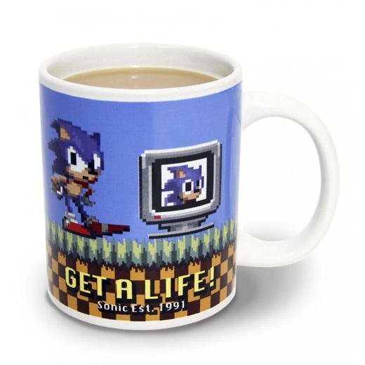 Caneca Sonic The Hedgehog Get A Life