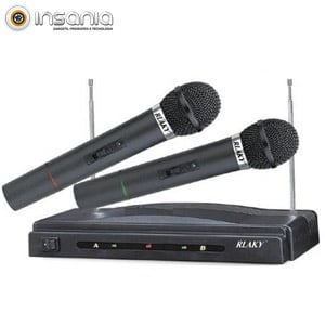 Microfones sem Fios e Recetor