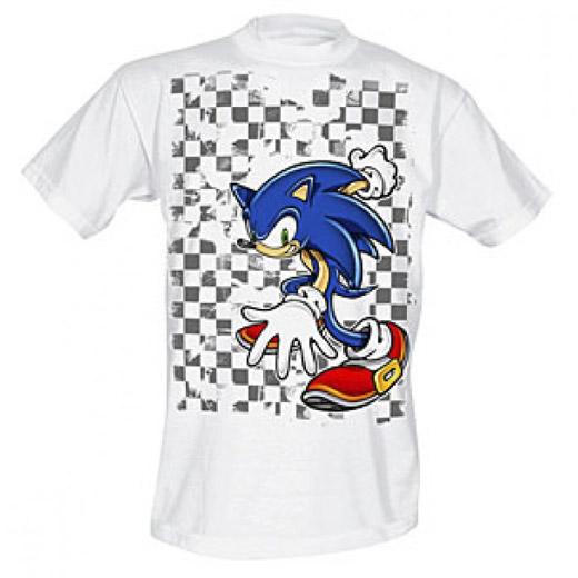 T-shirt Axadrezada Sonic