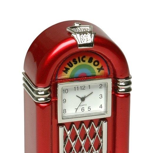 Relógio Jukebox Vermelha