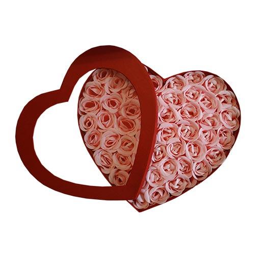 Coração Sabonetes Pétalas de Rosa (Pack 50)