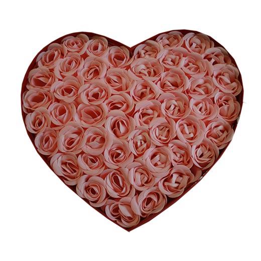 Corazón Pétalos de Rosa Jabón (Pack de 50)