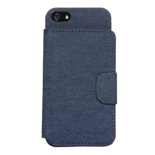 Capa Carteira em Ganga para iPhone 5/5S